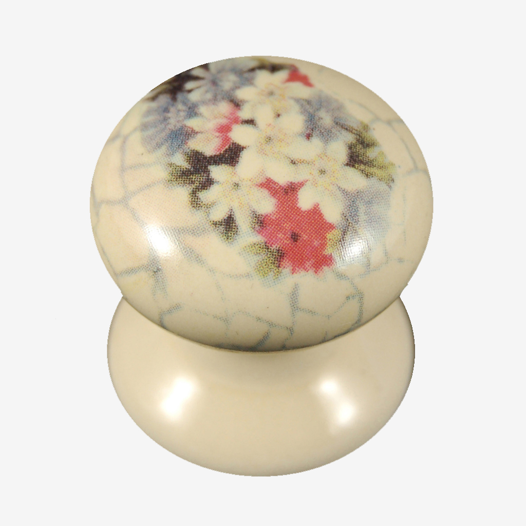 1 Pair Cream Porcelain Key Hole Covers Valentino Design